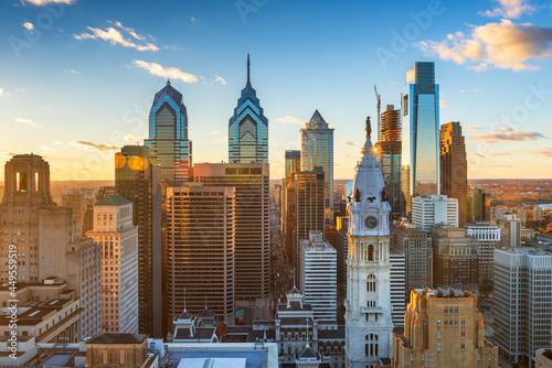 Fotografía Philadelphia, Pennsylvania, USA Downtown City Skyline