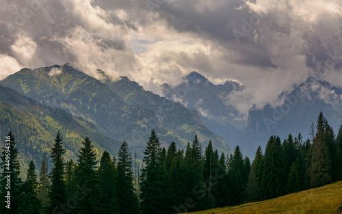 góry Tatry - widok z Rusinowej Polany