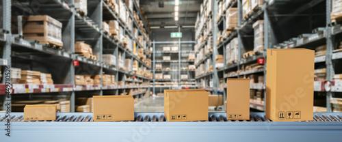 Fotografiet Smart warehouse management system concept