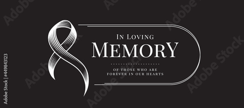 Fotografia In loving memory of those who are forever in our hearts text and abstract line d