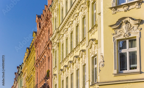 Fotografie, Obraz Colorful decorated facades of historic houses in Karlovy Vary, Czech Republic