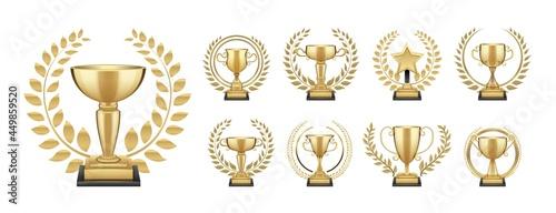 Obraz na plátně Golden trophy