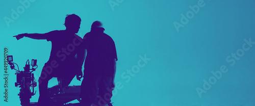 Obraz na plátně Video production behind the scenes
