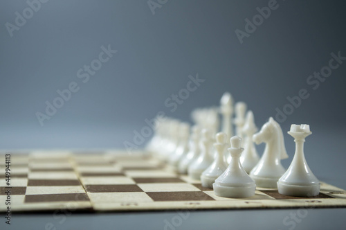 Tela chess pieces on the chessboard