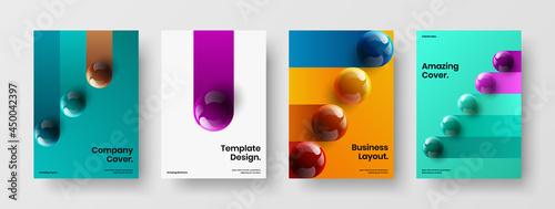 Fotografija Unique 3D balls annual report layout collection