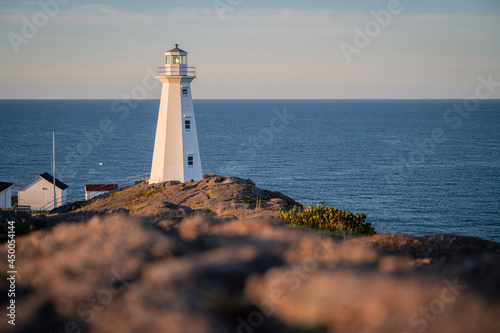 A view of the Cape Spear lighthouse looking towards the Atlantic Ocean from Cape Spear, NL, Canada Fototapeta