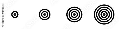 Conjunto de icono de tiro al blanco Fototapet
