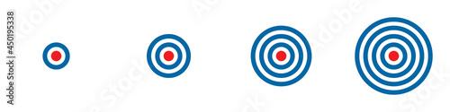 Canvastavla Conjunto de icono de tiro al blanco