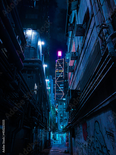 Valokuvatapetti Low Angle View Of Illuminated Buildings In City At Night