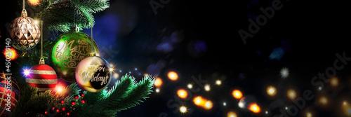 Fotografie, Tablou 夜のクリスマスツリー