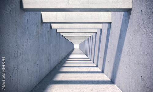Fotografia concrete tunnel with sunlight