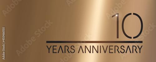 Tablou Canvas 10 years anniversary vector logo, icon