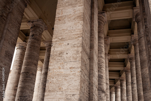Fotografering St. Peter's Square colonnades in Rome