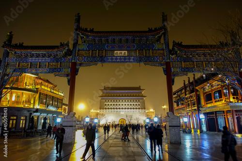 中国 北京 前門大街の美しい風景