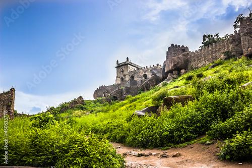фотография Heritage or Historic Golkonda fort in Hyderabad, India