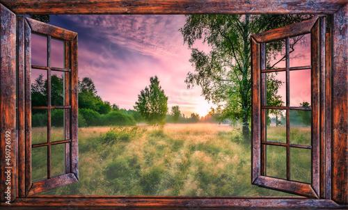 Valokuva sunrise view from the window