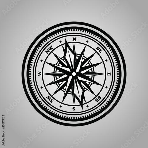 Obraz na plátně abstract circle compas north west