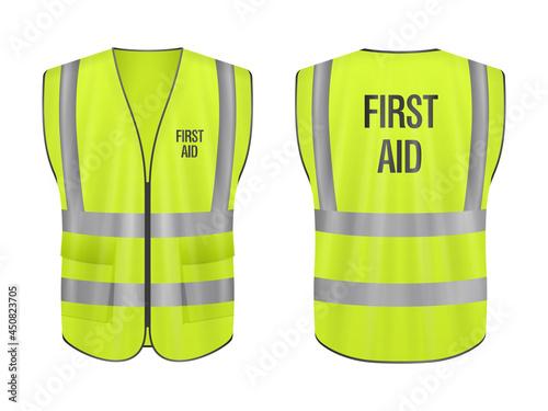 Safety vest first aid set Fototapeta