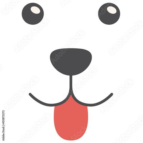 Stampa su Tela dog funny catahoula cur mug design vector illustration for use in design and pri