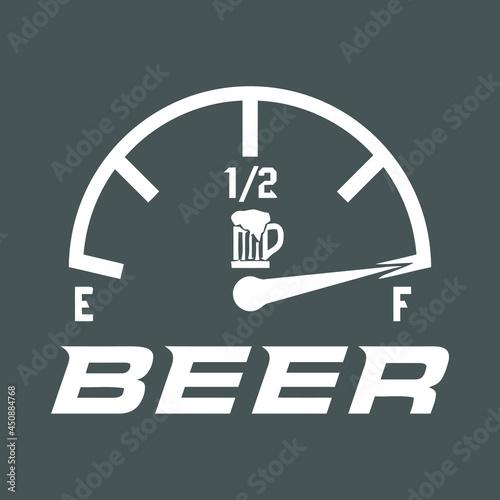 beer lover fun design wo cropped vector design illustration print poster wall ar Fotobehang