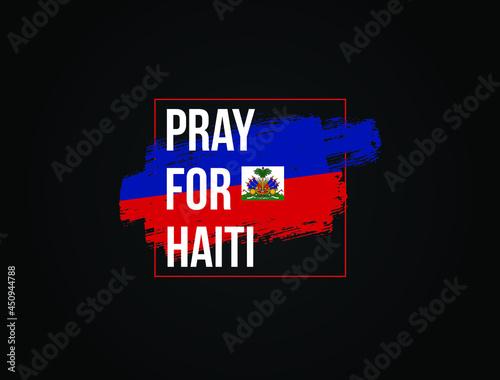 Leinwand Poster Pray For Haiti vector illustration