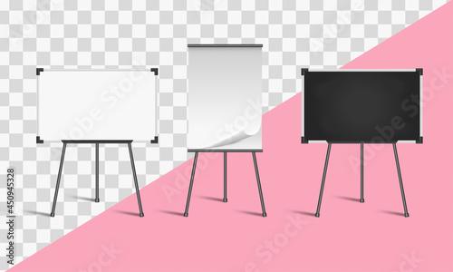 Fotografía Set of board templates or mockup