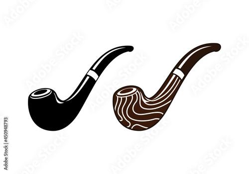 Obraz na plátně Tobacco pipe design illustration vector eps format , suitable for your design needs, logo, illustration, animation, etc
