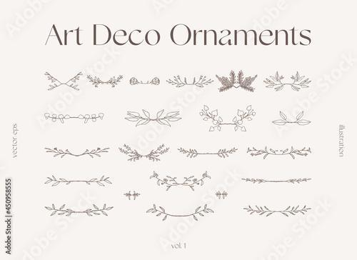 Fotografia Set of floral elements decorative branches vector