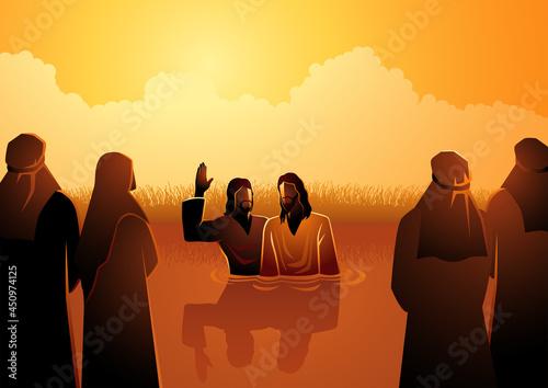 Photo Jesus baptised by John the Baptist