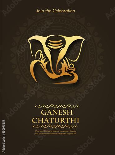 Photo Lord Ganesha , Ganesh festival illustration of Lord Ganpati background for Ganes