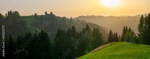 Obraz na płótnie Emmental in der Schweiz Im Sommer