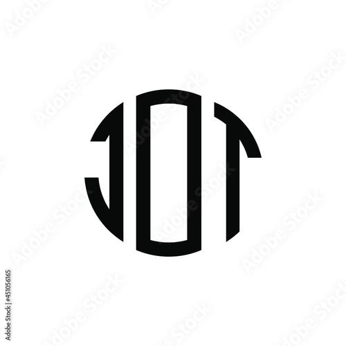Canvastavla JOT letter logo design