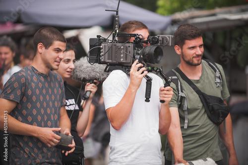 Billede på lærred Behind scenes