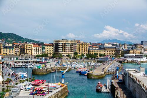 Port of Donostia in San Sebastián, Spain Fototapet