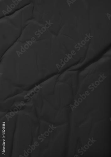 Obraz na plátně Black Glue, Wrinkled and Crumpled Paper Texture