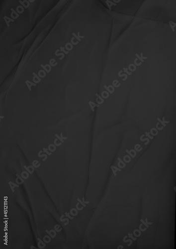 Fototapeta Black Glue, Wrinkled and Crumpled Paper Texture