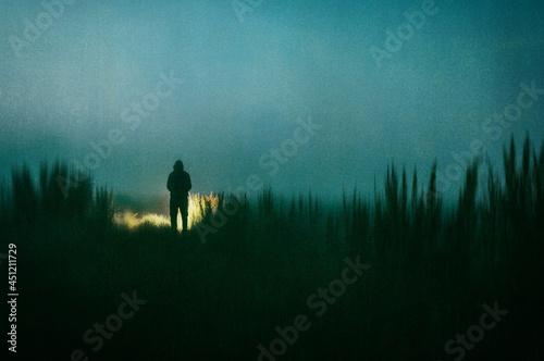 A dark scary concept Fototapet