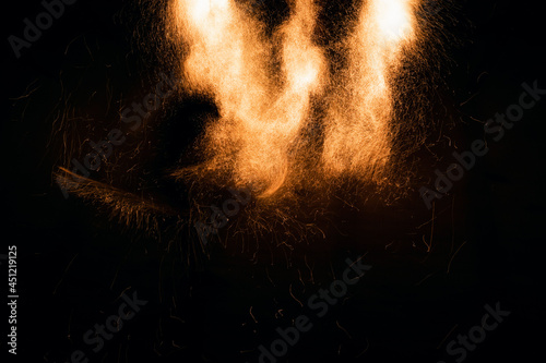 Canvas Print Beautiful abstract background on the theme of fire, light and life