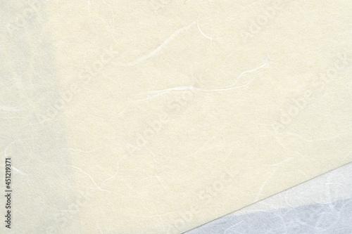 Fotografija 和紙テクスチャー背景(白色) 背景が透けて見える白い和紙