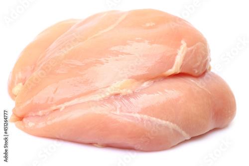 Obraz na plátně Chicken meat on a white background