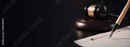 Fotografia, Obraz Lawyer, notary public working in the office.