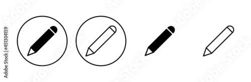 Pencil icon set. pen symbol. edit icon vector Fototapete