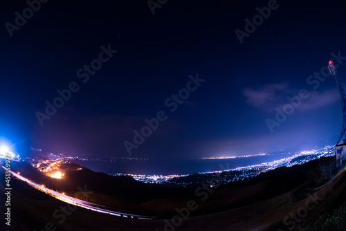 Fototapeta 大分県別府市 十文字原展望台の夜景
