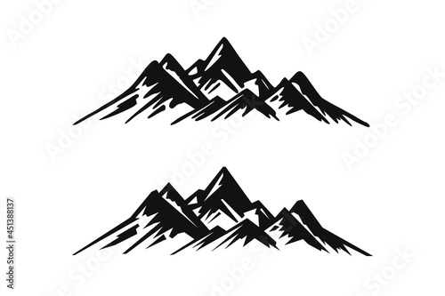 Fotografering Hand Drawn Mountains Isolated