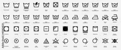 Fotografie, Obraz Laundry vector icons, symbols collection
