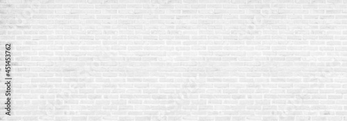 Fotografia vintage white brick wall texture background