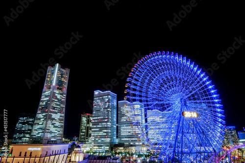 Fotografia, Obraz 神奈川県横浜市みなとみらいの夜景