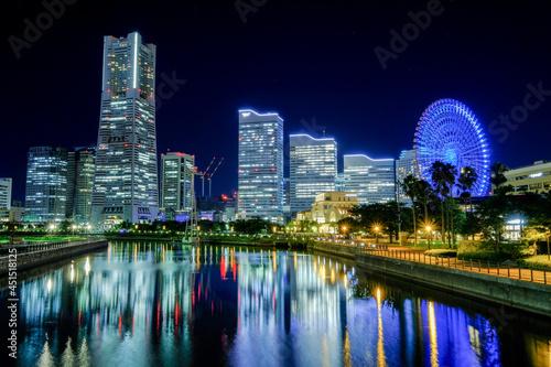 Obraz na plátne 神奈川県横浜市みなとみらいの夜景