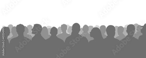 Obraz na płótnie Silhouetted crowd ( audience, fans ) vector illustration