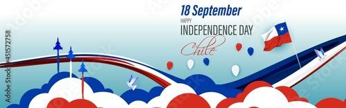 Fotografija vector illustration for independence day-CHILE-18 September